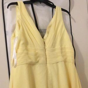 azazie Dresses - Long yellow bridesmaid summer dress